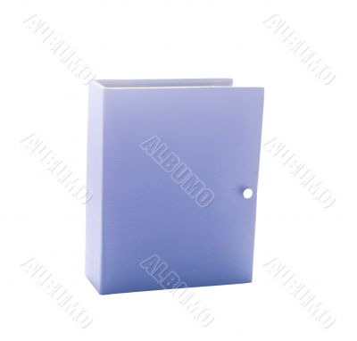Blue photo album isolated on white