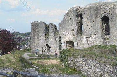 Tourist at the castle