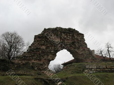 Historic ruins of wall