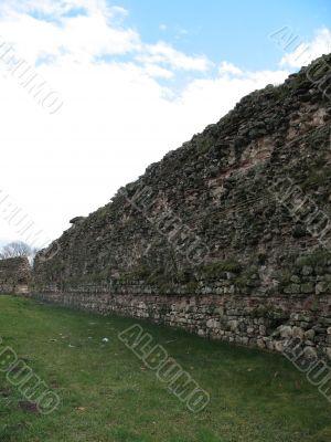 Historic ruins of wall