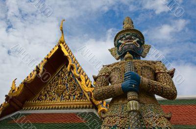 Mythical giant guardian (yak) at Wat Phra Kaew
