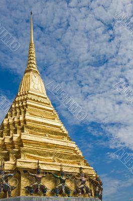 Golden stupa in Wat Phra Kaew, Bangkok, Thailand
