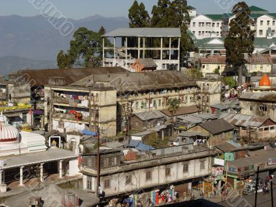 Town type. Darjeeling. West Bengal. India