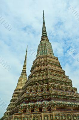 Stupas in Wat Phra Kaew, Bangkok, Thailand