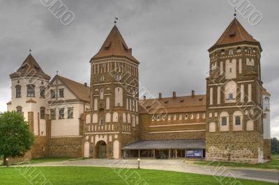 Medieval castle in town Mir in Belarus - HDR Version