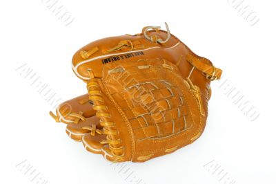Baseball catcher mitt isolated on white background