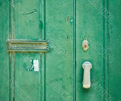 old green door - nice grunge texture