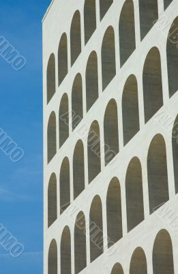 Arches of Square coliseum in Eur, Rome