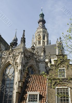 Grote Kerk in Breda seen from the outside