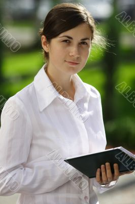 Nice girl with a book