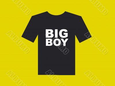 Black shirt shape