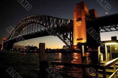 Harbour Bridge at night
