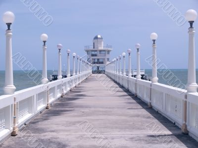 Pier with observation tower