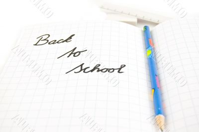 back to school (focus on letters)