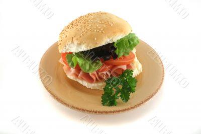 Ham And Salad Roll 1