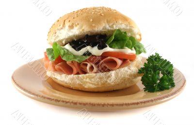 Ham And Salad Roll 3