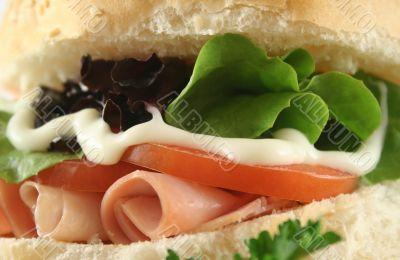 Ham And Salad Roll 6