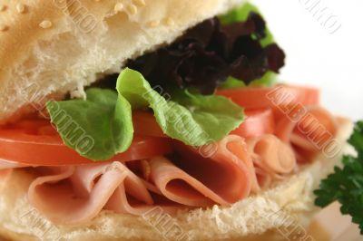 Ham And Salad Roll 8