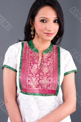 Indian Embroidered Women`s Apparel