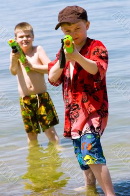 Who wants a water fight?