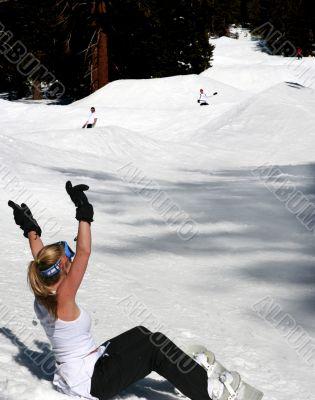 Fun snowboarding