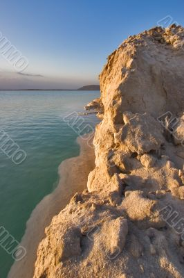The salty sea.