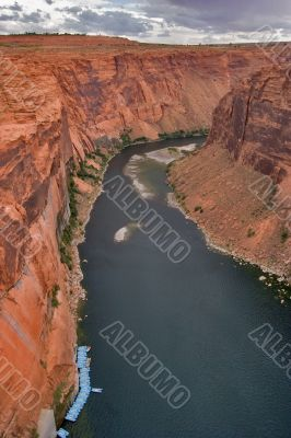 Boats on the river Colorado.