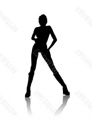 Black girl silhouette