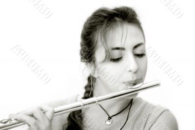 Beautiful Flutist - horizontal