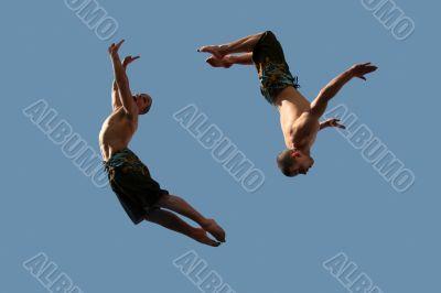 Couple of flying boys