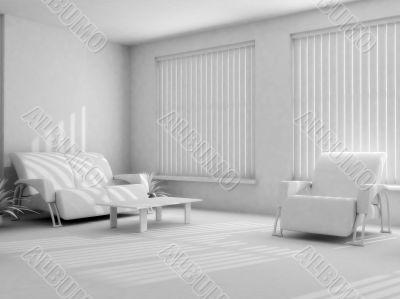 interior in light tones
