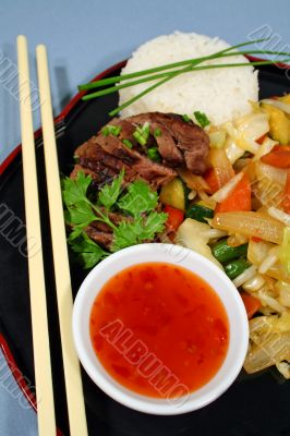 Lamb With Stir Fry Vegetables 2