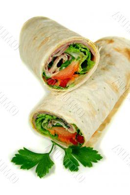 Ham And Salad Wrap 1