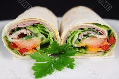 Ham And Salad Wrap 2