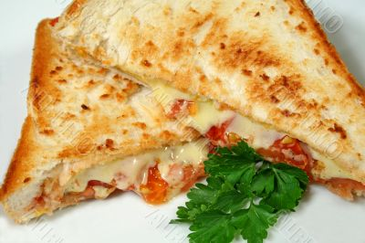 Toasted Cheese And Tomato Melts 1