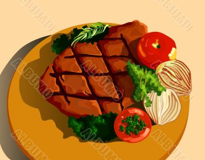 Steak illustration
