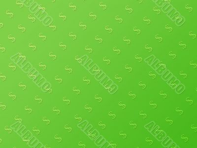 Green wallpaper with dollar