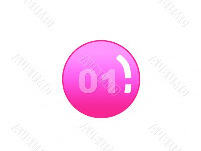 Red aqua button with number one