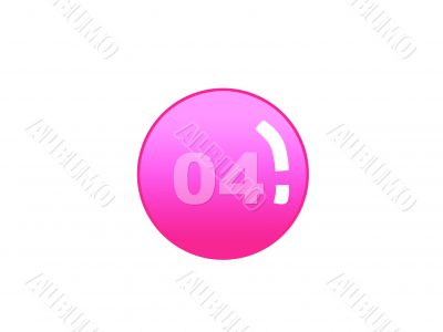 Red aqua button with number four