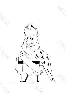 Illustration of cartoon monarch