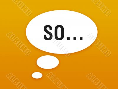orange wallpaper with talking bubble and word