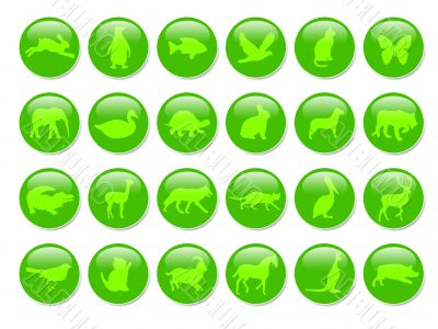 green icons with animals shapes