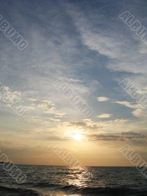 beautiful cloudscape and sea