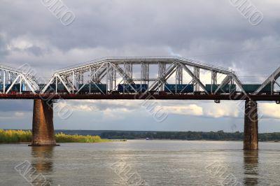 Railroad bridge through the Ob` 1