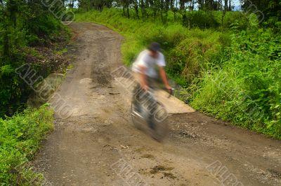 Costa Rica Bicycllist
