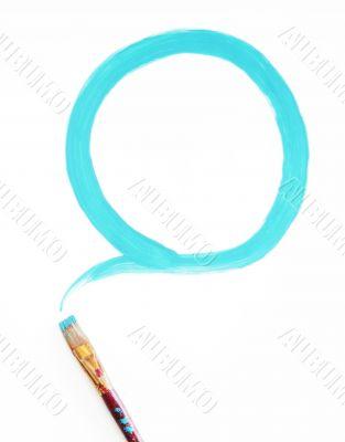 Blue Circular Paint Stroke