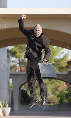 Punk Businessman in the Air