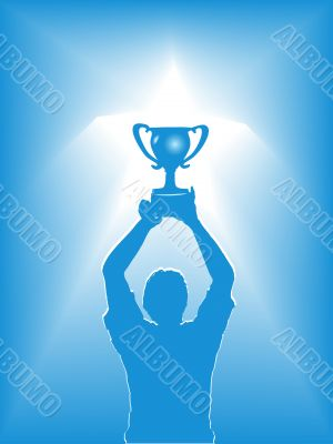 Victory Star Trophy Silhouette