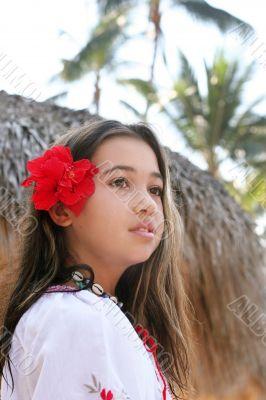 Girl On A Tropical Island