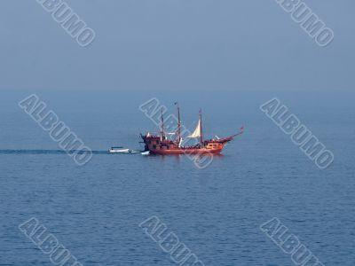 Tourist ship